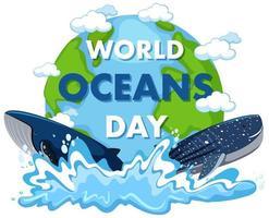 design do dia mundial dos oceanos