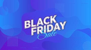 design de banner de venda de formas geométricas de sexta-feira negra vetor