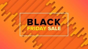 desenho de banner de venda laranja preto sexta-feira vetor