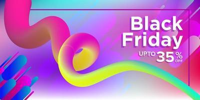 desenho de banner de venda de cores de arco-íris preto sexta-feira vetor