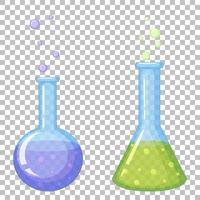 conjunto de ícones de tubo de ensaio vetor