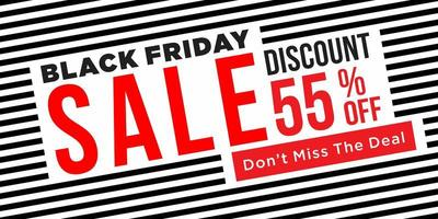 banner de venda sexta-feira negra vetor
