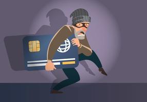 Roubo de cartão bancário vetor