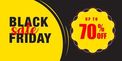 modelo de design de banner de venda sexta-feira negra vetor