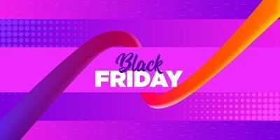 desenho de banner venda preto sexta-feira rosa brilhante vetor