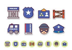 Conjunto de ícones da polícia livre vetor