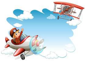 quadro de jatos voadores vetor