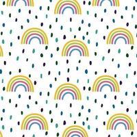 padrão sem emenda com arco-íris vetor