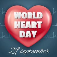 design do dia mundial do coração