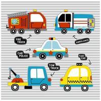 conjunto de veículos de resgate vetor