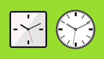 ícones de relógio isolados vetor
