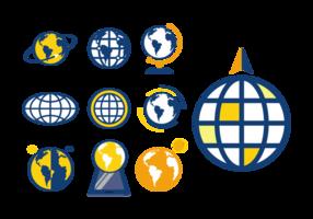 Vetor de ícones globus