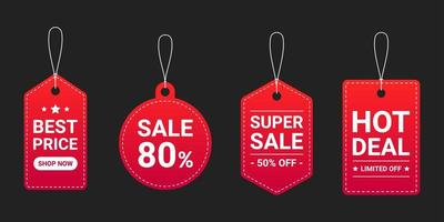 coleção de etiqueta de preço, conjunto de modelos de etiqueta de venda vetor