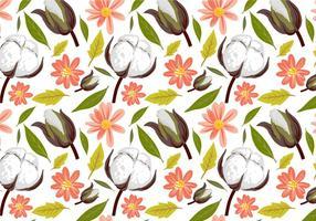 Vetores de padrões de algodão gratuitos
