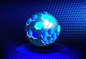estrutura de bola de tecnologia redonda molecular vetor