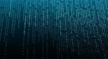 fundo de tecnologia futura de circuito cibernético binário azul vetor