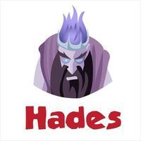 hades, antigo deus grego da morte vetor
