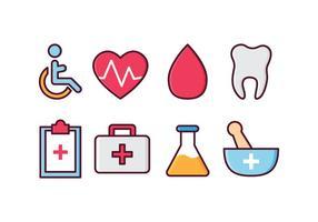 Conjunto de ícones médicos gratuitos vetor
