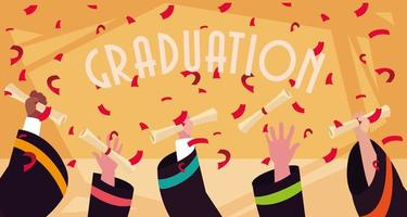 diploma de graduação em design de celebração vetor