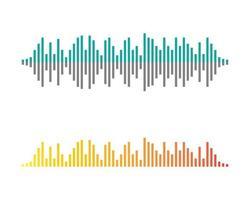 imagens de logotipo em cores de ondas sonoras vetor
