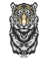 desenho de tigre tribal vetor