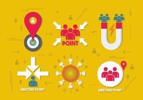 Design do vetor do ponto de reunião
