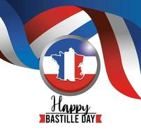 banner de comemoração do dia da bastilha francesa vetor