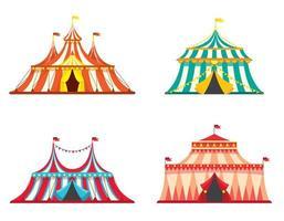 conjunto de tendas de circo.