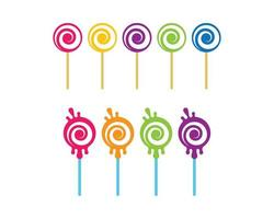 conjunto de pirulito com cores diferentes vetor