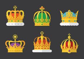 Vetor de ícones da coroa britânica grátis