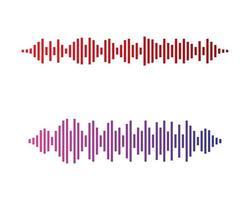 cores da onda sonora vetor