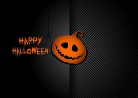 fundo Hallowen com abóbora, jack o lantern vetor
