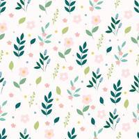 padrão floral sem costura com flores