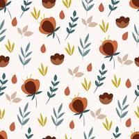 padrão botânico sem costura com flores