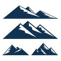 ilustrações vetoriais de montanha vetor