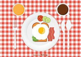 Design de pequeno-almoço vetorial gratuito vetor
