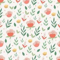 padrão sem emenda com flores em estilo doodle. Fundo botânico