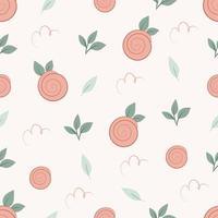padrão sem emenda com rosa em fundo pastel