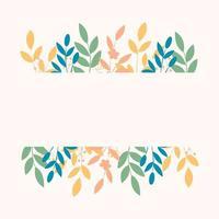 composição com flores e folhas