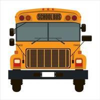 ônibus escolar amarelo em branco vetor