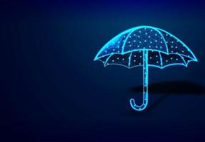 design abstrato de baixo poli de guarda-chuva vetor