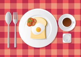 Café da manhã livre vetor