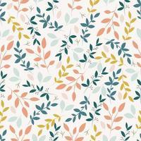 padrão botânico sem costura com folhas
