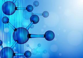 molécula de estrutura. DNA, átomo, nêutrons. vetor
