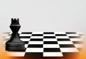 conceito de jogo de xadrez com peça de torre preta vetor