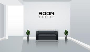maquete do quarto interior vetor