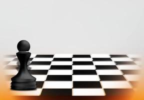 conceito de jogo de xadrez com peça de peão preta vetor