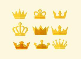 Vetor de coroa britânica plana grátis