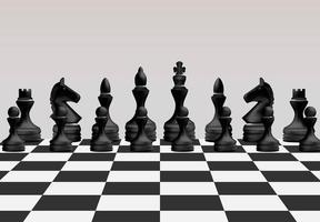 conceito de jogo de tabuleiro de xadrez vetor