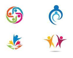 conjunto de imagens de logotipo colorido da comunidade vetor
